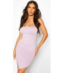 bandeau hanky hem bodycon dress, lilac
