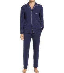men's eberjey men's william pajamas, size medium - blue