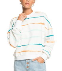 roxy cotton bay rolling striped top