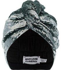 maryjane claverol adele sequin turban - blue