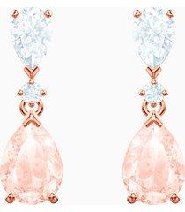 orecchini vintage, rosa, placcato oro rosa