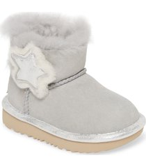 toddler girl's ugg mini bailey button ii metallic bootie