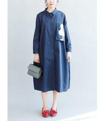camicia casual stampata cat per donna