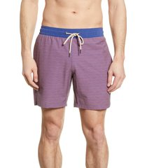 fair harbor the bayberry wave print swim trunks, size small in red waves at nordstrom