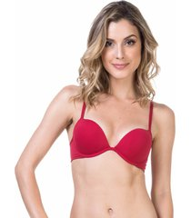 sutiã bojo double up cereja - 532.019 marcyn lingerie meia taça vermelho