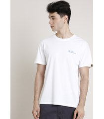 "camiseta masculina ""lost paradise"" manga curta gola careca off white"