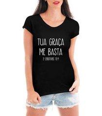 blusa criativa urbana tua graça t-shirt feminina