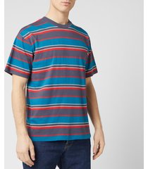 edwin men's quarter t-shirt - ebony stripes - l