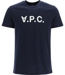 a.p.c. t-shirt with vpc flock logo