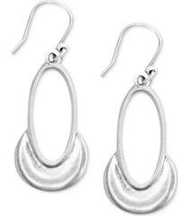 lucky brand crescent oval drop earrings