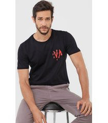 camiseta rvca etam shark preta - preto - masculino - dafiti