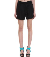 off-white logo shorts shorts in black viscose