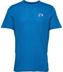 men's cotton/poly tee t-shirts short-sleeved blå newline