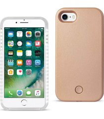 reiko iphone 7 led selfie light up illuminated case in rose gold
