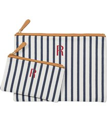 cathy's concepts set of 2 monogram canvas clutches in blue r at nordstrom