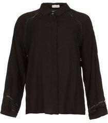 blouse met cut-outs bess  zwart