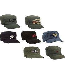 vintage us military olive drab black usmc army marines air corp emblem cap hat