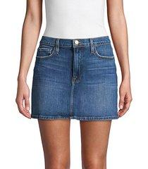 le mini denim mini skirt
