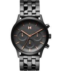 mvmt women's chronograph duet gunmetal stainless steel bracelet watch 38mm