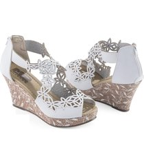 sandalias hermosa adulto femenino marketing personal 38345 blanco