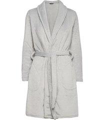 decoy short robe w/pockets morgonrock grå decoy