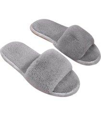 otoño invierno mujer zapatillas de felpa corta sandalia interiores zapatos planos de piso