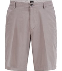 boss men's slice silver shorts