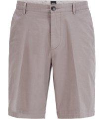 boss men's slice silver shorts