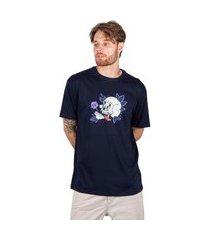 camiseta masculina blunt básica tongue - marinho p
