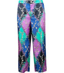 gucci double g motif trousers