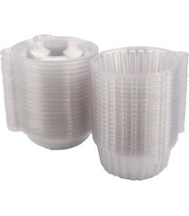 100pcs single clear plastic cupcake muffin case pods cup domes boxes holder clea