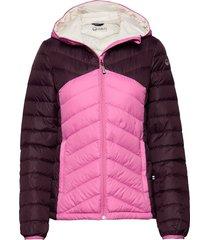 huippu w down jacket gevoerd jack roze halti