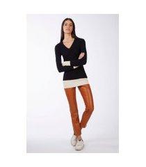calça like leather skinny zh08 marrom hermes - 38