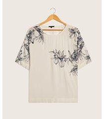 blusa manga 3/4 estampado