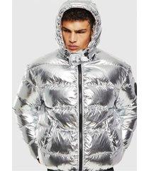 chaqueta w smith silver jacket plateado diesel