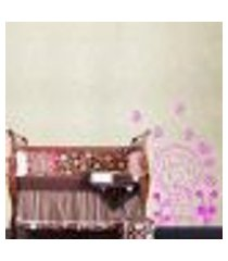adesivo de parede cartelas menina. borboletas e flores - p 40x40cm