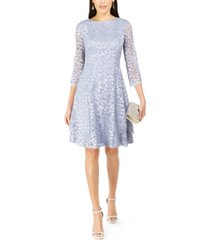 jessica howard petite sequined lace a-line dress