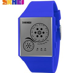 hombres y mujeres = reloj impermeable led-azul