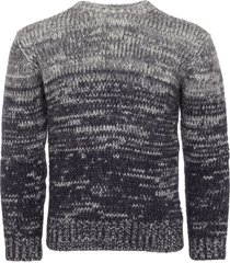 armani jeans blue fantasia mohair knitted jumper 6y6mb3-6m1wz