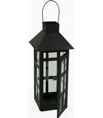 mind reader indoor/outdoor hanging decorative lantern, matte black