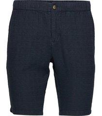 birch loose ramie shorts - vegan bermudashorts shorts svart knowledge cotton apparel