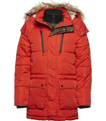sd expedition parka parka jas rood superdry