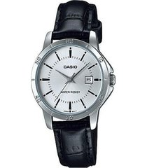 ltp-v004l-7a reloj dama blanco cuero