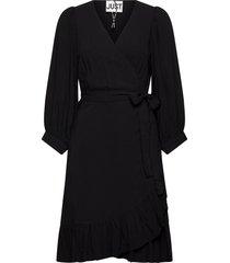 ellery wrap dress knälång klänning svart just female