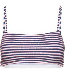 stripe bikini top bikinitop blå french connection