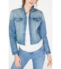 inc cropped rhinestone jean jacket, created for macy's
