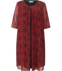 jurk met iets langere korte mouwen van anna aura rood
