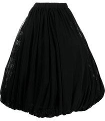 comme des garçons draped midi skirt - black