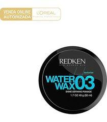 cera modeladora redken styling water wax 03 49g