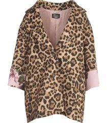 blumarine animalier printing short coat